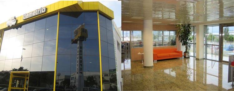 Nave industrial Demetrio. Interior edificio de oficinas