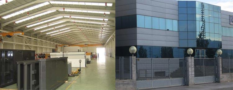 Nave industrial y edificio de oficinas