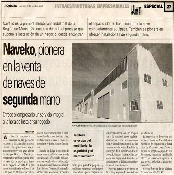 artículo de prensa sobre Naveko