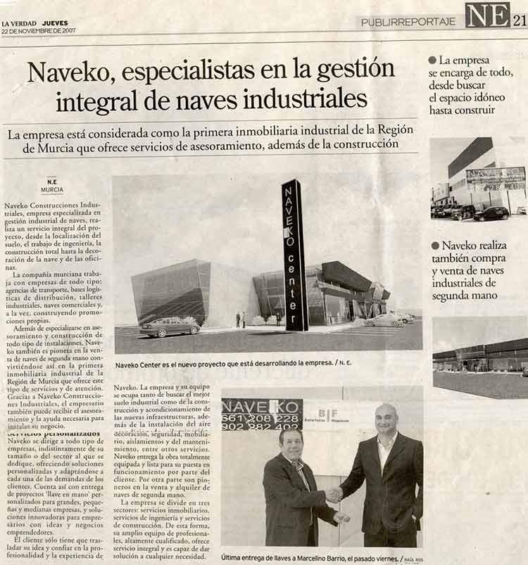 artículo en La Verdad sobre Naveko